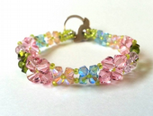 Summer Pastels Beadwork Bracelet Jewellery Making Kit with SWAROVSKI® ELEMENTS crystal beads